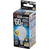 アイリスオーヤマ LED電球 口金直径17mm 60W形相当 昼白色 広配光タイプ 密閉形器具対応 LDA7N-G-E17-6T2