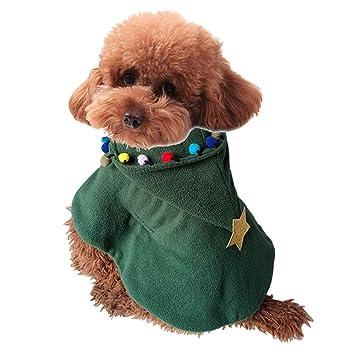 Susulv Navidad Ropa para Mascotas Perro Árbol de Navidad Chal Otoño e Invierno Ropa (tamaño : L): Amazon.es: Hogar