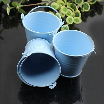 Mini Cubos de Metal Azul (10 uds.) Altura 5cm para Invitados ...