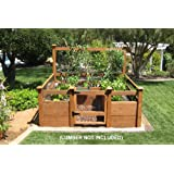 """Build the ultimate vegetable garden with this kit. Required rough construction lumber [redwood or cedar suggested, listed lumber is the nominal size, which will likely be larger(thicker) than the actual size]: (10) 2""""x10""""x8', (1) 2""""x10""""x6', (3) 2""""x4""""..."""