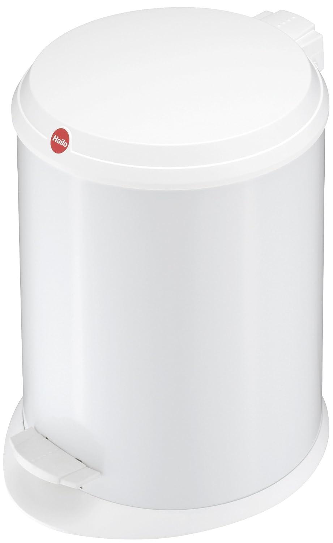 Hailo T1 M, Mü lleimer aus Edelstahl mit Kunststoff-Deckel, 11 Liter, groß er Ö ffnungswinkel, standfest, Tragegriff, made in Germany, 0513-019