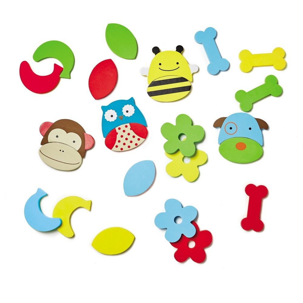 Skip Hop Zoo Bath Mix and Match Faces, Multi 235354