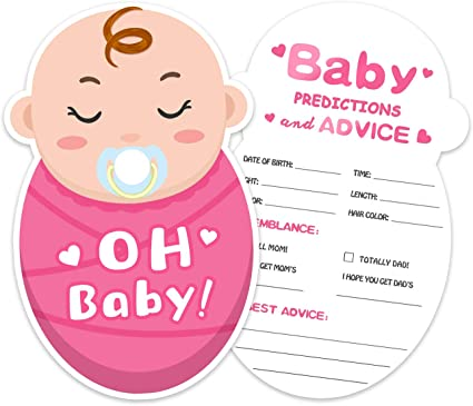 Baby Shower Game Advice for the Mommy to Be Baby Shower Advice Cards Baby Girl Advice for the New Mommy Pink Mommy Advice Card
