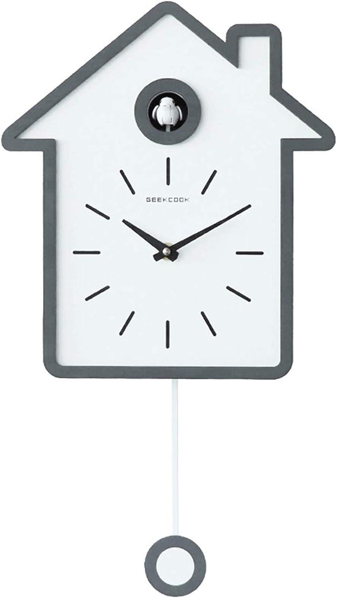 Reloj De Pared Estilo NóRdico Moderno Simple Reloj Cucú Forma De La Casa Casa Decir La Hora NúCleo Premium Durable Belleza Tridimensional Exquisito Los 27 * 48cm