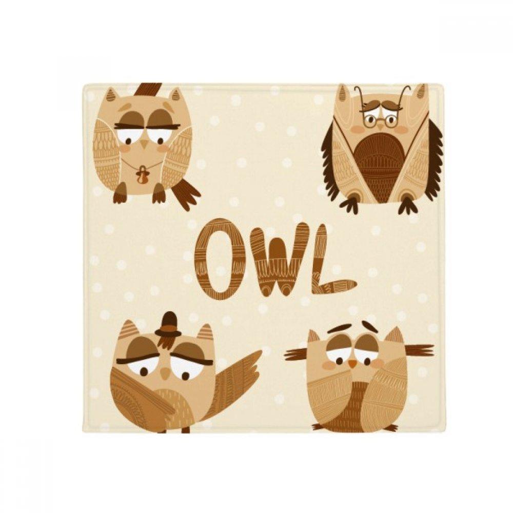 DIYthinker Bell Glass Hat Owl Anti-Slip Floor Pet Mat Square Home Kitchen Door 80Cm Gift