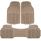 Automotive : Johns FMR-23 (3pc Set) Beige All-Weather Rubber Floor Mats