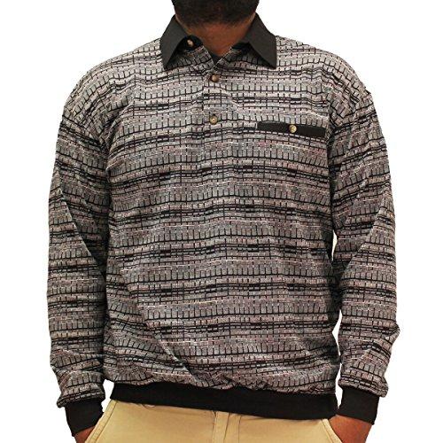 LD Sport Jacquard Long Sleeve Banded Bottom Shirt - 6096-...