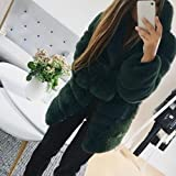 Women'S Faux Fur Coat Fashion Luxury Hooded