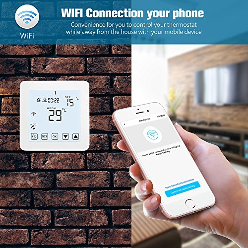 WiFi Thermostat, Programmable Touchscreen Smart Thermostat, Compatible with Alexa by CoolPai (Image #3)