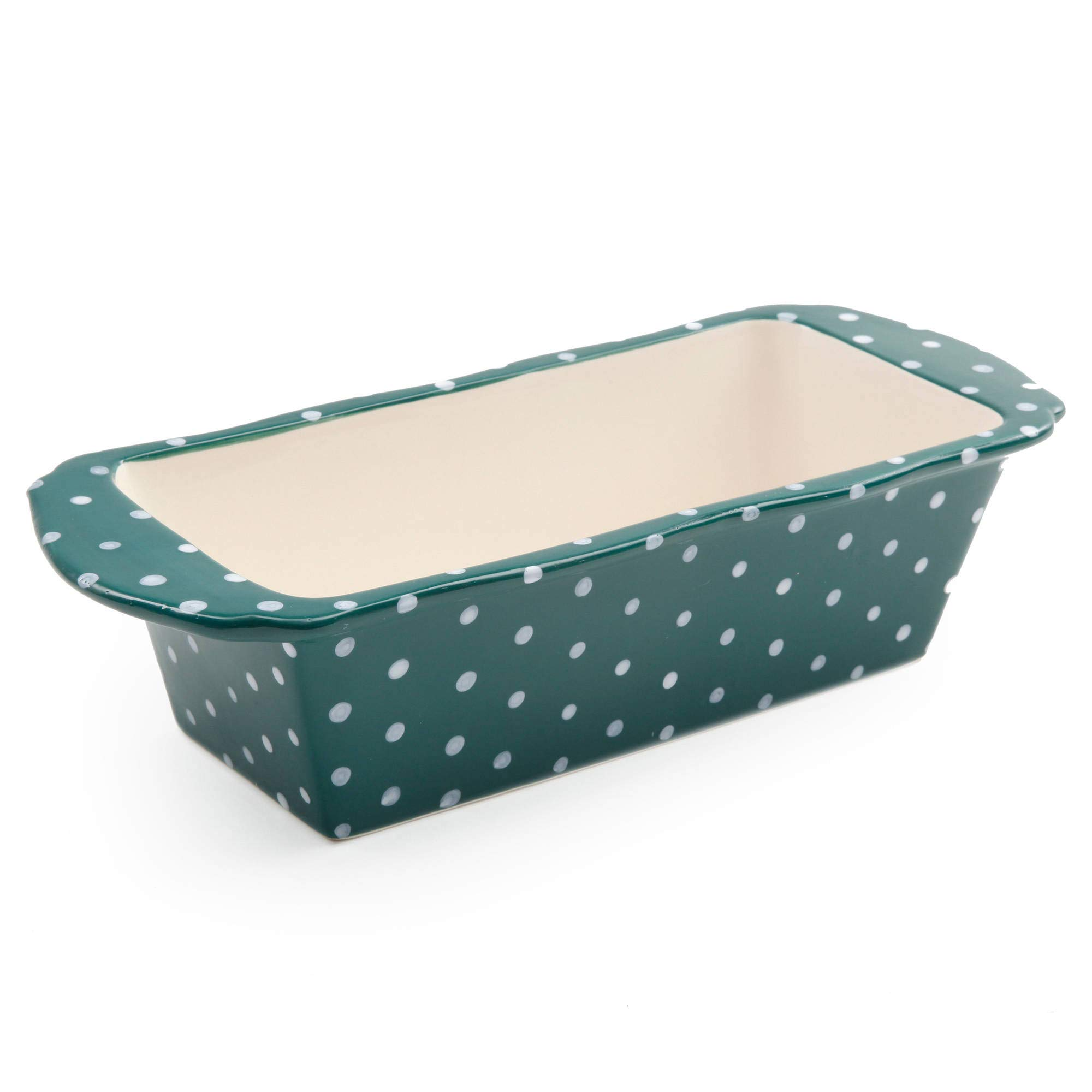 The Pioneer Woman''Retro Dots'' Stoneware Loaf Pan 9.5'' x 4.5'' x 2.6'' by The Pioneer Woman (Image #2)