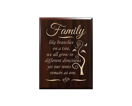 Familia, como ramas en un árbol, todos nos crecer en ...