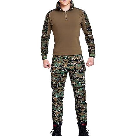 Vividda Chándal de Camuflaje Caza Wargame Airsoft Paintball Tactical Camisa y Traje de Uniforme de Combate del ejército pantsoutdoor