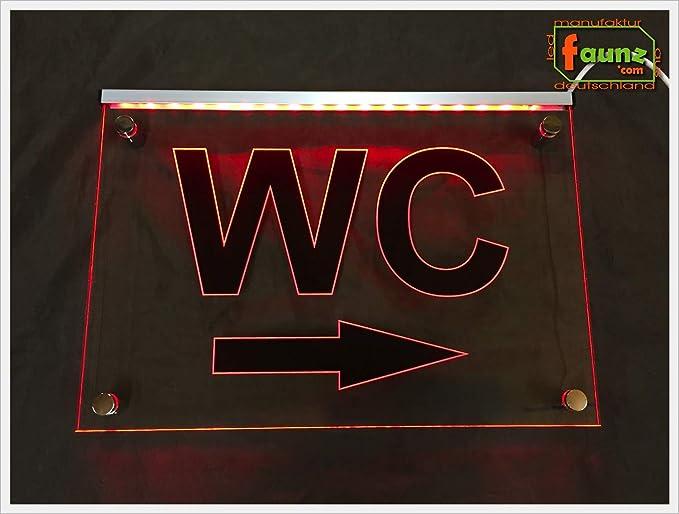 Cartel Nota LED Cartel Cartel de inodoro, diseño de señales ...