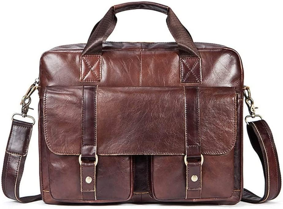 Men Briefcase Brown Color Water Resisatant Business Messenger Briefcases Laptop Bag Travel Briefcase With Organizer Expandable Large Size Shoulder Bag for Men and Women for Business Work College Scho