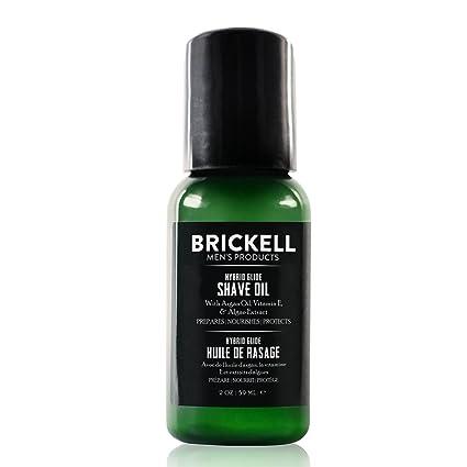 Brickell Mens Products – Aceite de Afeitado Híbrido para Barba – Aceite Pre-Afeitado Natural