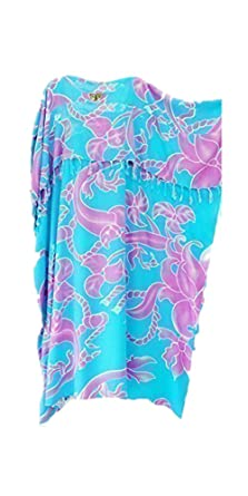 5bc9daa5bd Cool Kaftans Celtic Maya Batik Long Kaftan Beach Cover UP Ladies Summer  Plus Size Dress New Blue Gray: Amazon.co.uk: Clothing