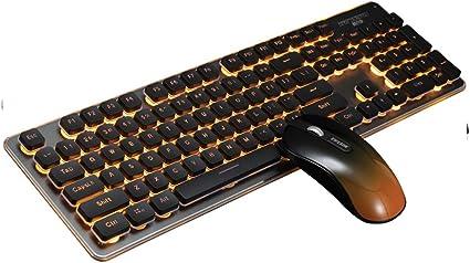 NCBH Teclado y Mouse Bluetooth Gaming, luz de Carga Teclado y ...