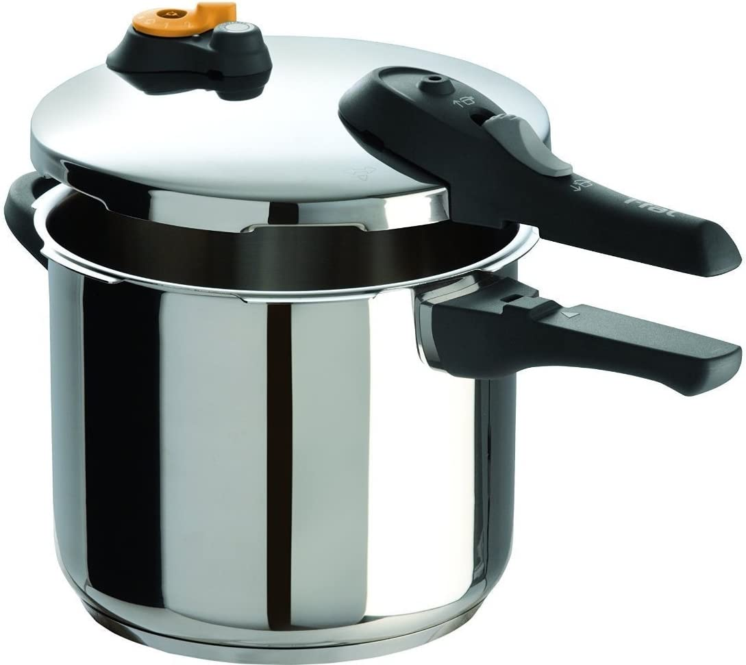 T-fal P25107 Pressure Cooker - Stainless Steel (Renewed)