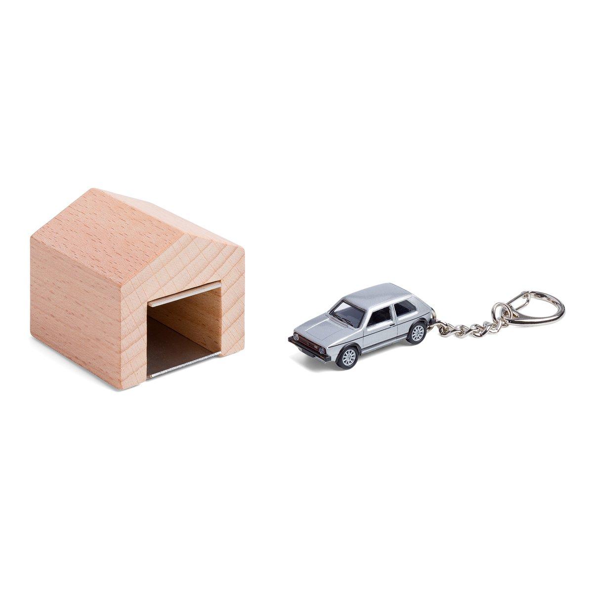 Garage mit Kultauto f/ür die Wand das Design-Schl/üsselboard aus Buchenholz und Edelstahl inkl Modellauto mit Schl/üsselanh/änger Citro/ën 2CV rot corpus delicti