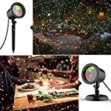 COOWOO Christmas Laser Lights, Star Laser Projector Light Show for Outdoor Decorations, Waterproof Landscape Lighting for Christmas and Holidays