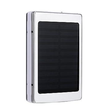 Cargadores Solares, Zolimx 30000mAh Universal Portátil USB Doble Cargador de Batería Solar Externa Potente Banco de Energía LED Luz Solar Con Cables ...