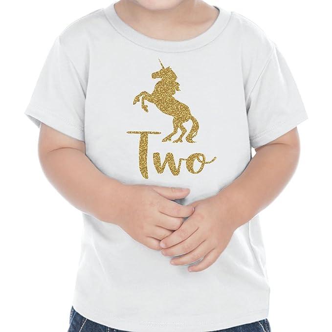 Amazon.com: Unicornio conjunto de 2 nd cumpleaños niña niña ...