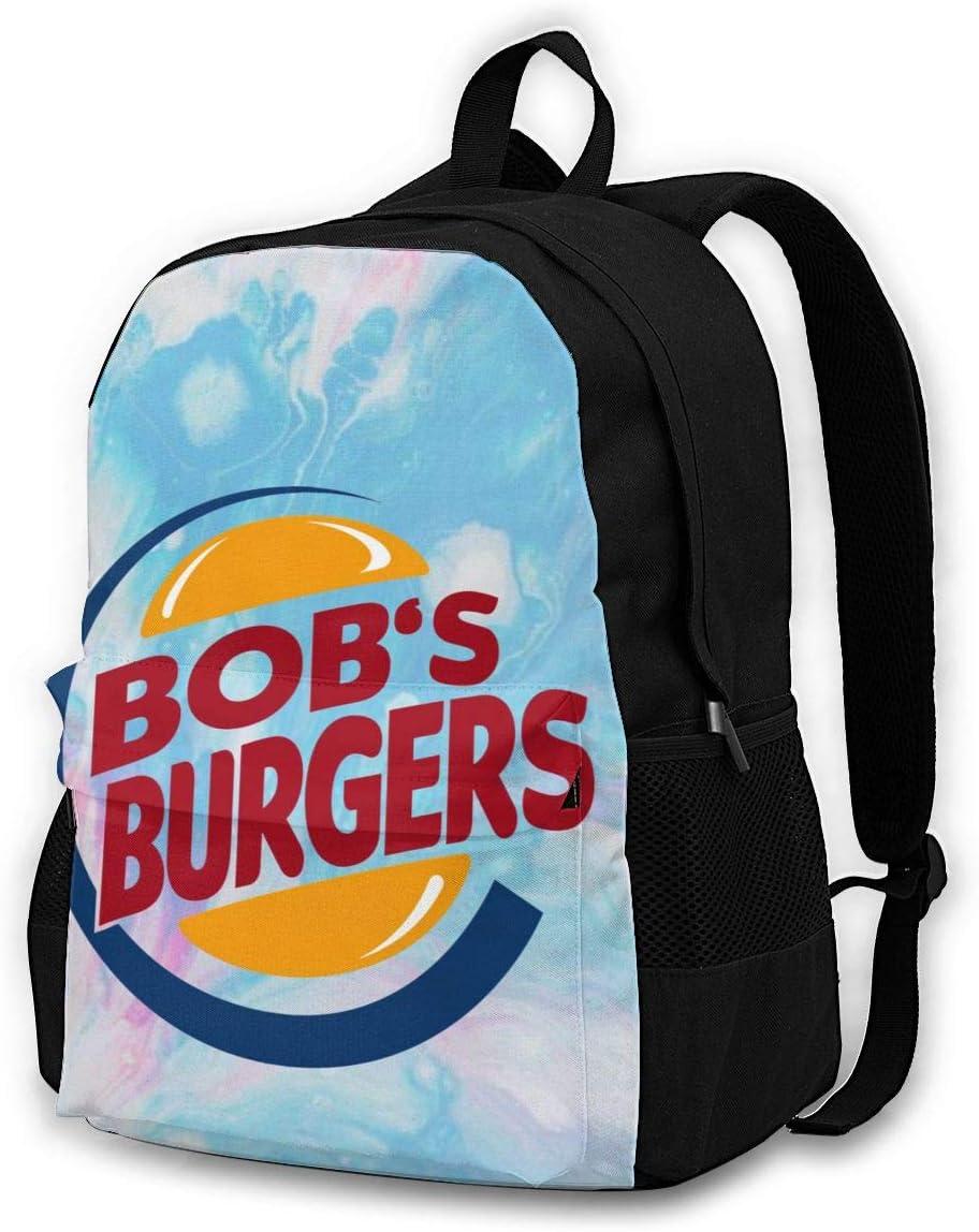 Bo-BS Bur-Gers School Backpack Bookbag Casual Daypack Travel Laptop Backpack for Girls Women Teenagers Black