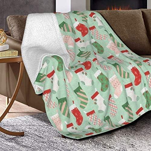 Couverture polaire rétro texturée ultra douce et moelleuse en polaire pour canapé, lit et salon 127 x 101,6 cm