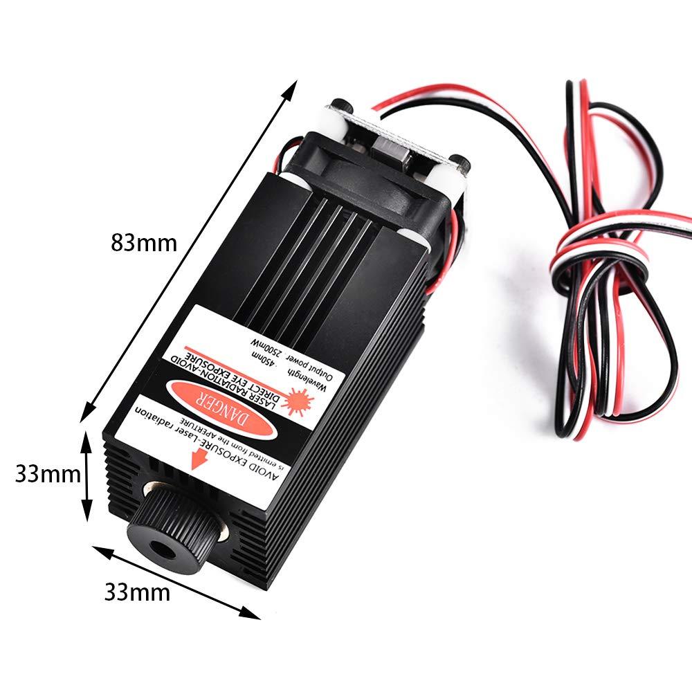 10000mw Lasermodul avec rallonge ER11 et 5mm Vogvigo Upgrade Version CNC 3018 Pro GRBL Commande DIY Mini CNC Fraiseuse pour PCBs /à 3 axes Graveur de routeur /à bois avec contr/ôleur hors ligne