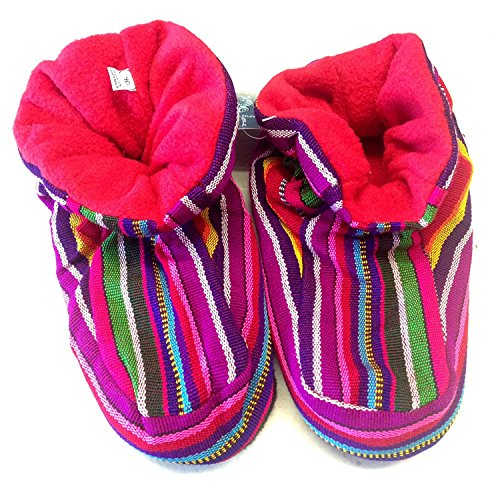 Trade Harlequin Unisex Guatemalan Purple Ladies Fair Slippers Fleece Mens Multicoloured nFBawEdxp