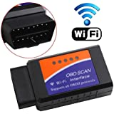 ELM327 Wireless OBD2 Auto Scanner Adapter Scan Tool For Android iPhone Windows and Windows PC