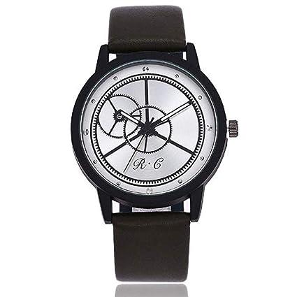 Scpink Reloj para Hombres, Reloj Clásico De Negocios de Cuero de Moda Retro Casual Acero