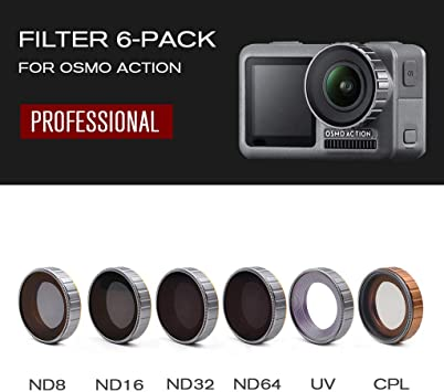 New For DJI OSMO Action Camera Adjustable Alloy Optical Glass Lens Filters Set