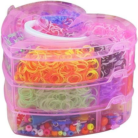 Colorful Loom Bandas Twister Case Kit de herramientas para hacer pulseras con estuche de almacenamiento para niños adultos telar DIY manualidades A A: Amazon.es: Hogar