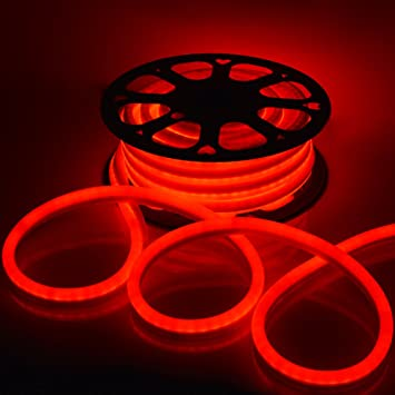 Amazon led neon rope light flex tube sign decorative home led neon rope light flex tube sign decorative home indoor outdoor red 50 aloadofball Images