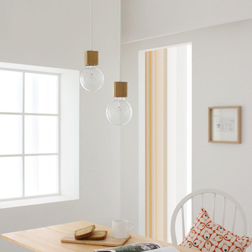 BOKT 1-Light Minimalist Ceiling Pendant Lamp Enjoy DIY Multi-Hanging Lantern kit Natural Wooden Lamp Holder E26/E27 Island by BOKT (Image #4)