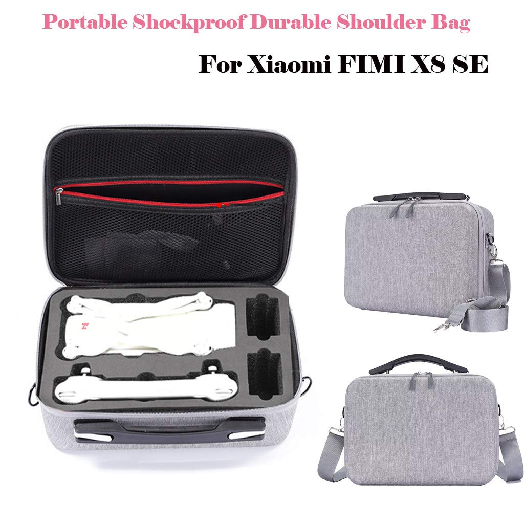 Drone Protective Bag, Livoty Portable Travel Durable Shoulder Bag Carrying Case Protection Cover for Xiaomi FIMI X8 SE