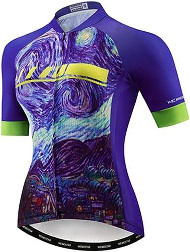 Bike Women Racing Cycling Jersey T-Shirt Tops Breathable Short Sleeve Clothing