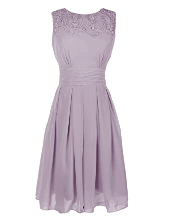 Leader of the Beauty Crew A Line Bridesmaid Dress Prom Gown Gray UK 6