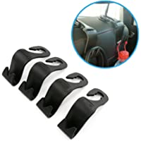UTSAUTO 4 Pack Universal Seat Back Car Hooks Headrest Hooks Hanger For Coat Bag Purse Umbrella