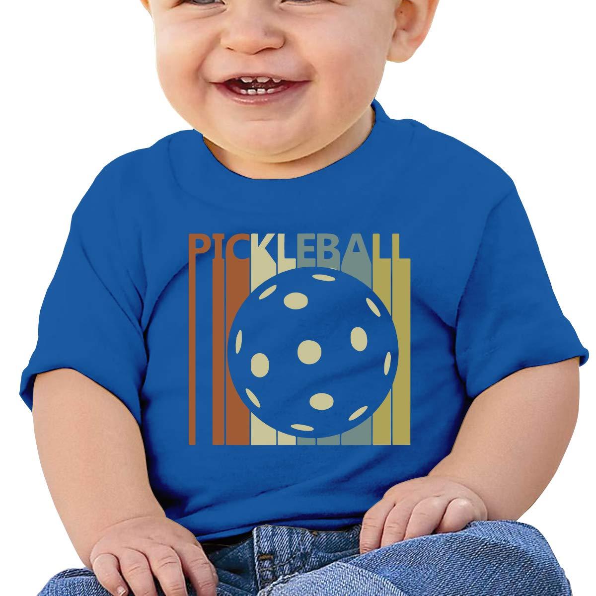 XHX403 Vintage Retro Pickleball Infant Kids T Shirt Cotton Tee Toddler Baby 6-18M