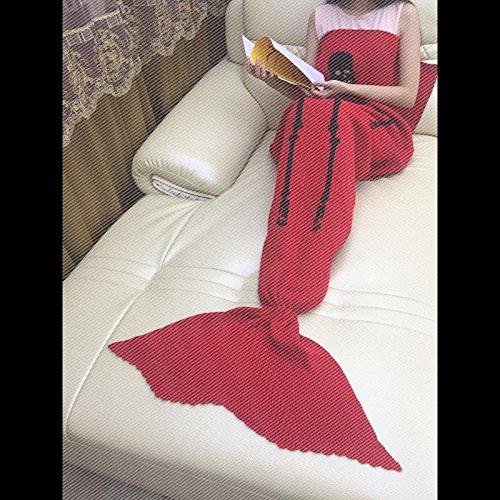La Petite Sirène louvre sieste et queue de poisson climatisation couverture Couverture canapé et de la climatisation et de cadeaux créatifs ,180cmx90cm (adulte), le trou