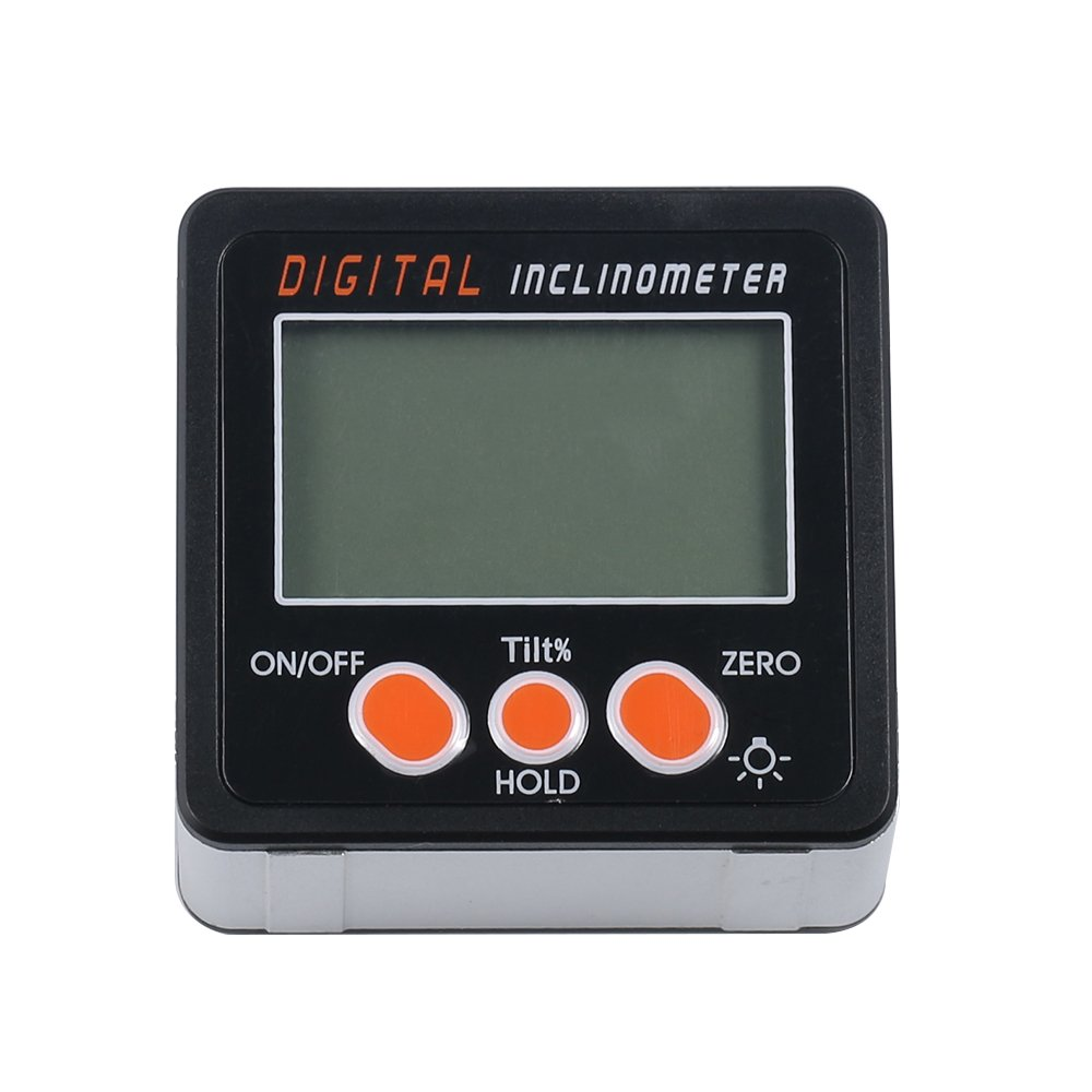 EXQUISITE Digital Protractor Angle Gauge 2 Keys Inclinometer Level Box Magnetic Base Digital Angle Finder