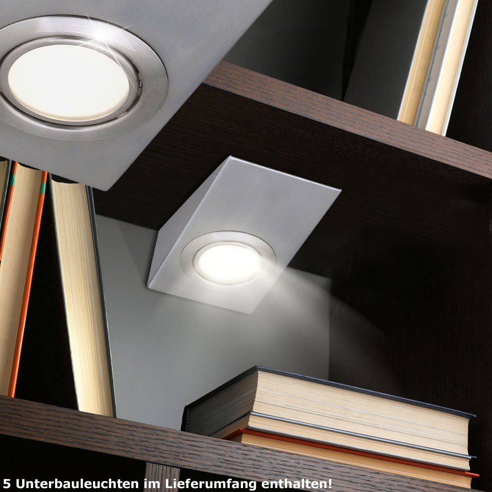 5er Set Schrank Unter Bau Beleuchtung Möbel Einbau Leuchten Wand ...