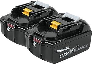Makita BL1840B-2 18V LXT Lithium-Ion 4.0Ah Battery Twin Pack