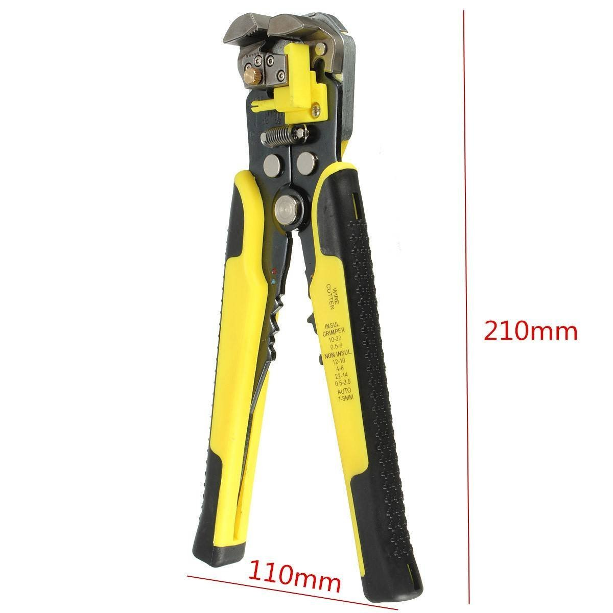 Wire Stripping Tool,Self-Adjusting Professional Multifunctional cable stripper/Crimping Stripping Cutting Pliers /Wire Stripper Plier Tool for Industry 10-24 AWG Stranded Wire Cutting by Drillpro by DRILLPRO (Image #2)