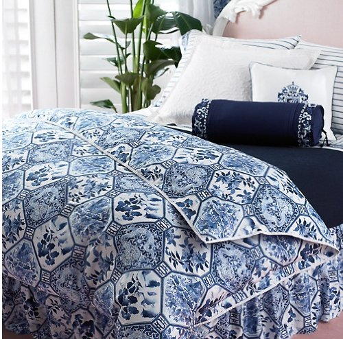 Ralph Lauren Blue And White Bedding