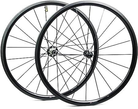 Yuanan Ruedas de Carbono para Bicicleta de Carretera, 30 mm, 700 C ...