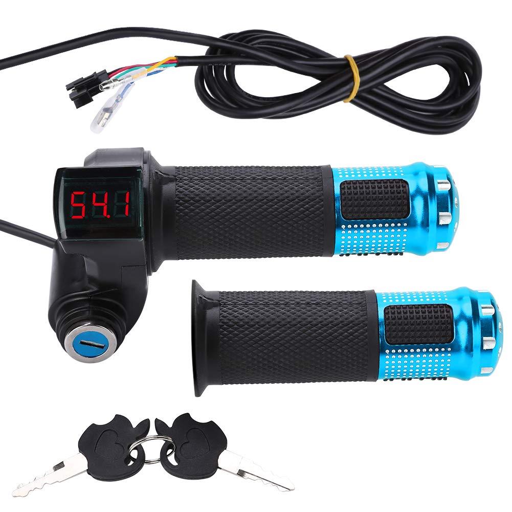 Elektrofahrrad Gasgriff Elektro-Scooter Batteriespannung mit LED-Anzeige und Power Key Locker Accelerator VGEBY