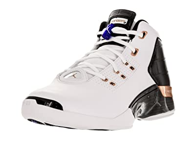 64920cb722edc8 Air Jordan 17+ Retro Men s Shoes White Metallic Copper Black 832816-122